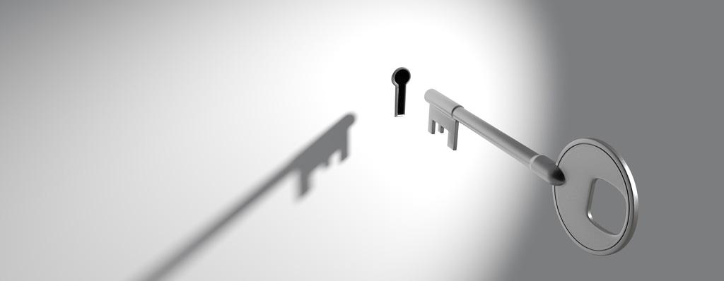 Schlüssel mit Schloss als Symbol für Datenschutz